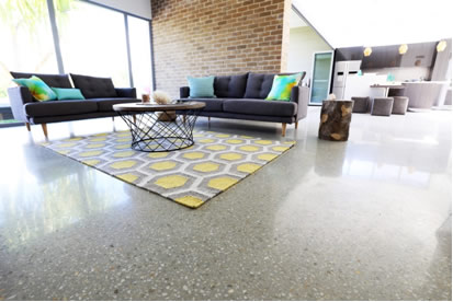Polished concrete floors perth carpet vidalondon for Residential concrete floor wax