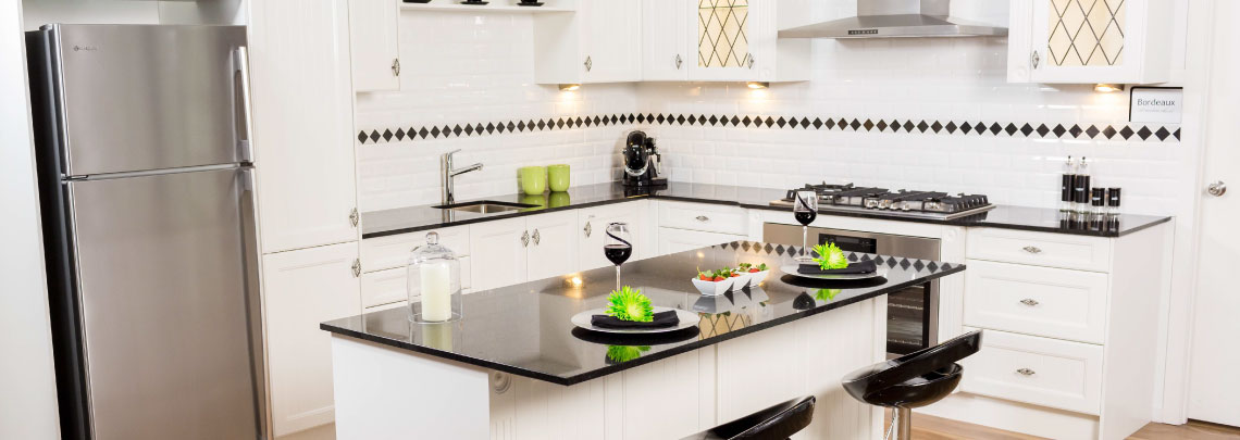 White Kitchen Black Benchtop kitchen design trends to add value to your home - brisbane home show